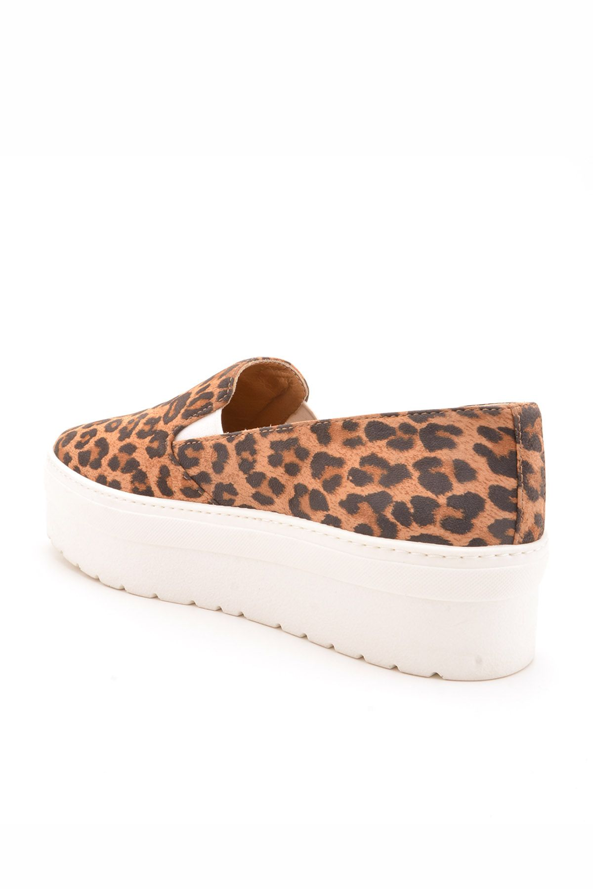 Art Goya High-Soled Women Sneakers From Genuine Leather With Leopard Pattern Brown
