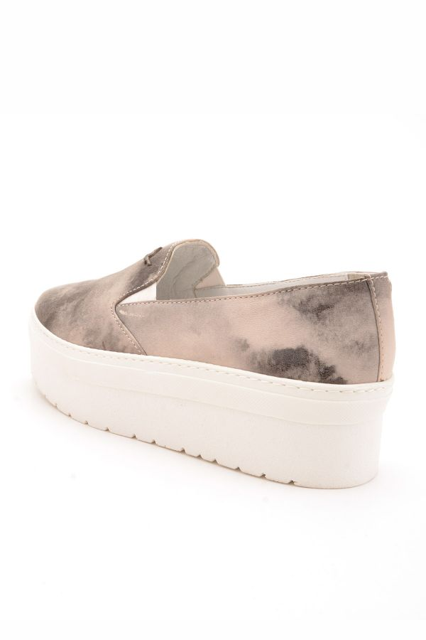 Art Goya High-Soled Women Sneakers From Genuine Leather Gray