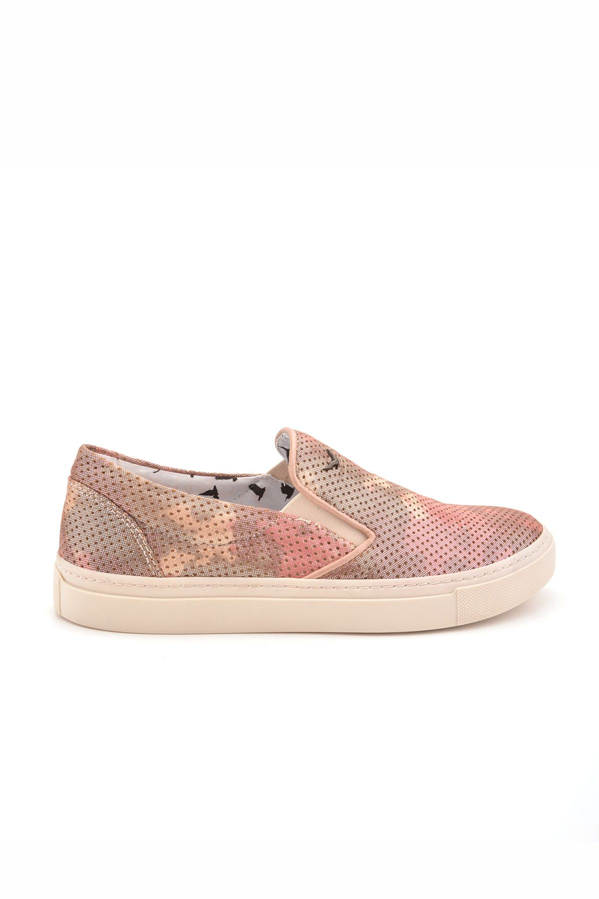 Art Goya Perforated Women Sneakers From Genuine Leather Powdery