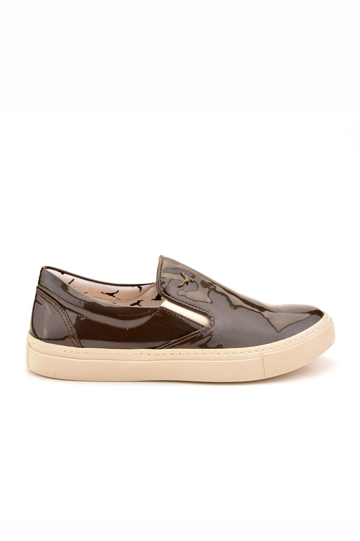 Art Goya Women Sneakers From Polished Leather Gray
