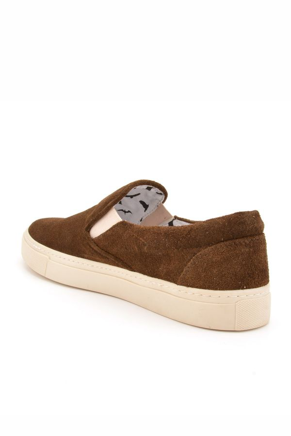 Art Goya Women Sneakers From Genuine Suede Khaki