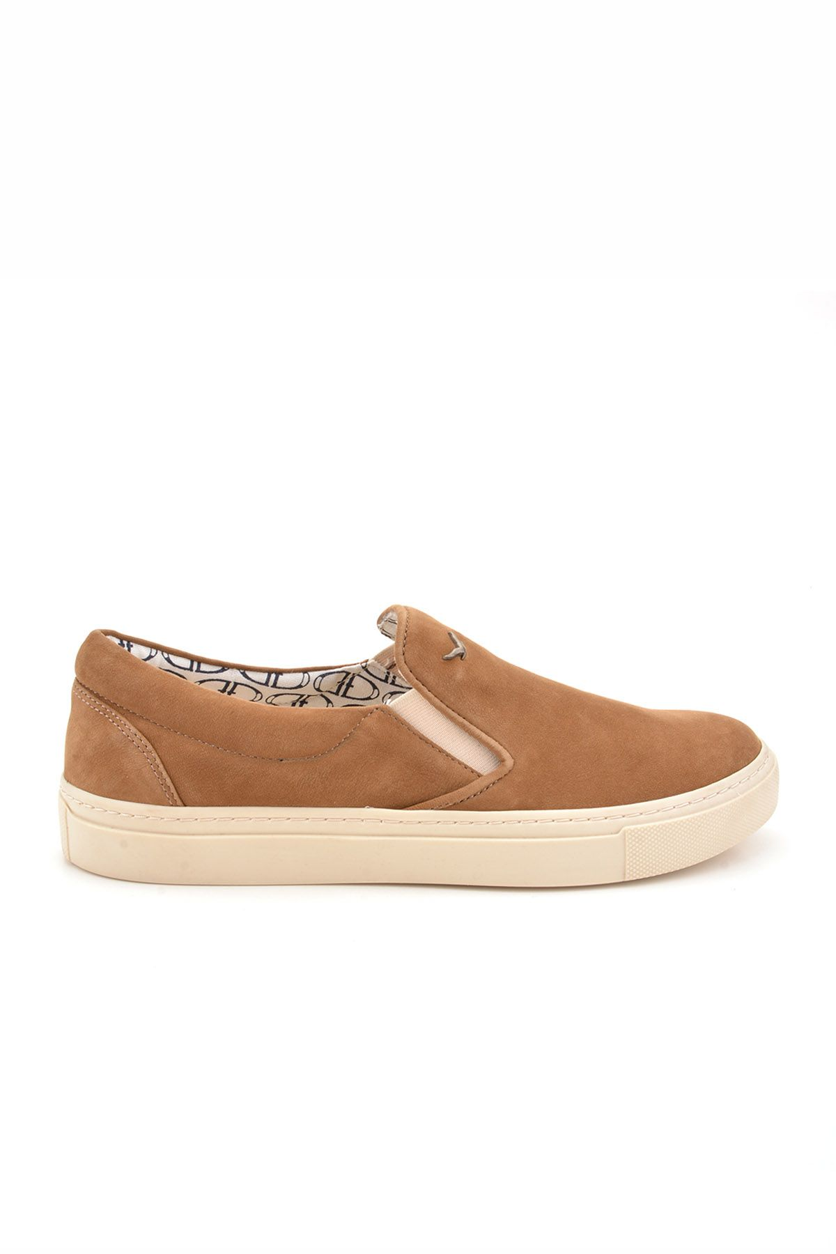 Art Goya Women Sneakers From Genuine Leather Sand-colored