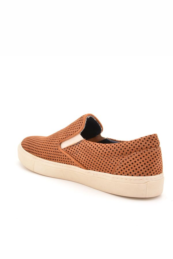 Art Goya Perforated Women Sneakers From Genuine Leather Brown