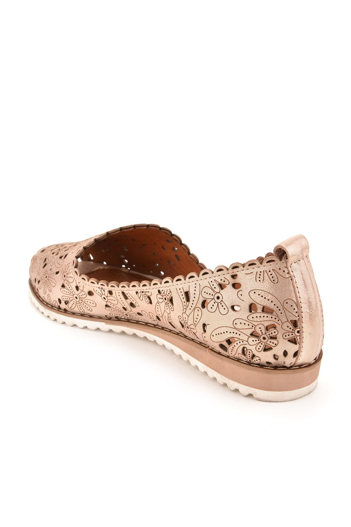 Pegia Open Fronted Women Shoes From Genuine Leather Bronze