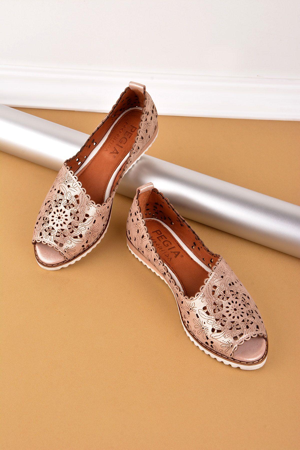 Pegia Открытая Женская Обувь Из Натуральной Кожи Бронзовый