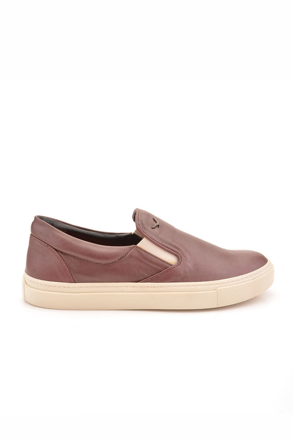 Art Goya Women Sneakers From Genuine Leather Claret red