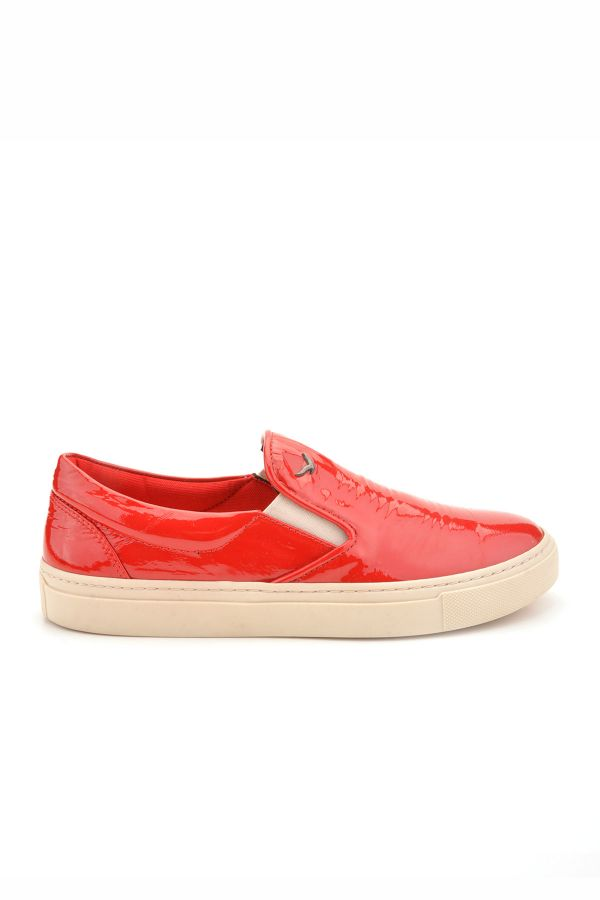Art Goya Women Sneakers From Polished Leather Red