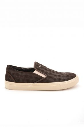 Art Goya Patterned Women Sneakers From Genuine Leather Brown