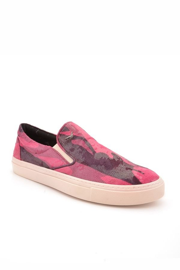 Art Goya Women Sneakers With Camouflage Pattern Magenta