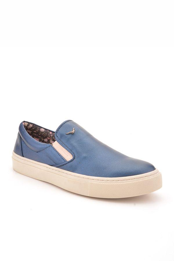 Art Goya Women Sneakers From Genuine Leather Navy blue