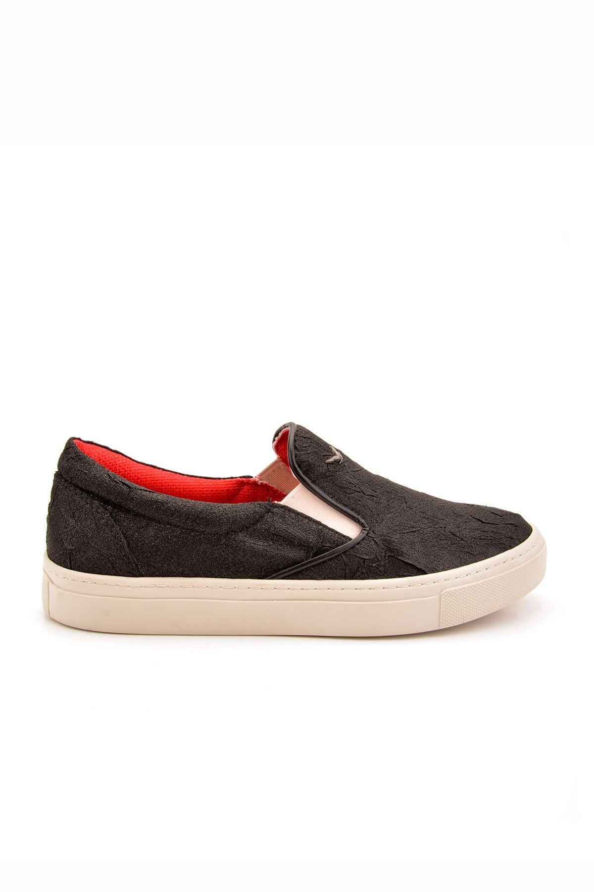 Art Goya Silvery Linen Women Sneakers Black