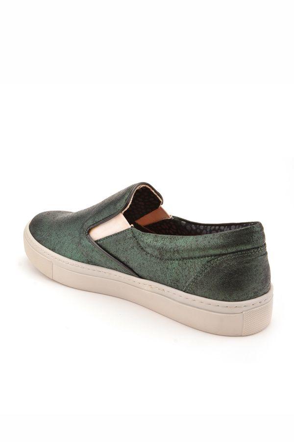 Art Goya Silvery Women Sneakers Green