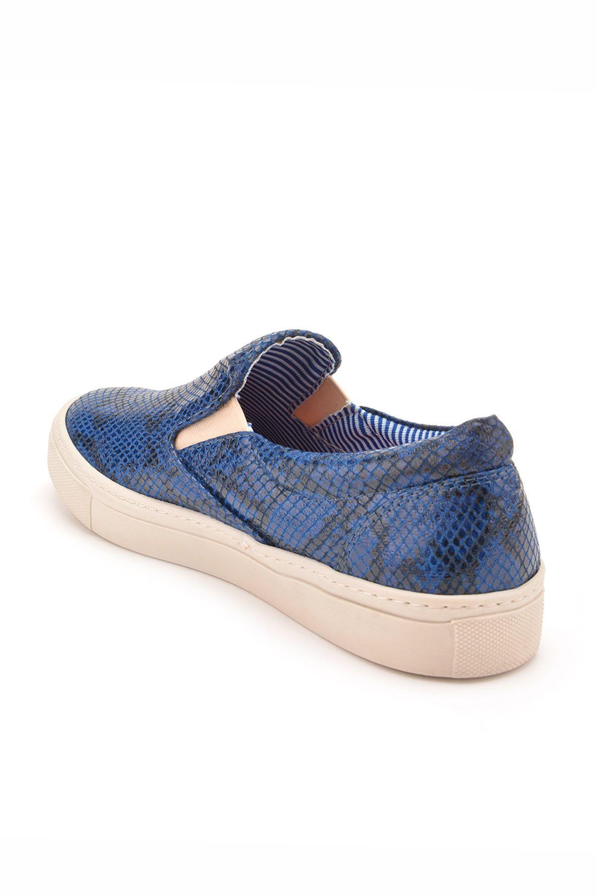 Art Goya Women Sneakers With Snake Pattern Navy blue