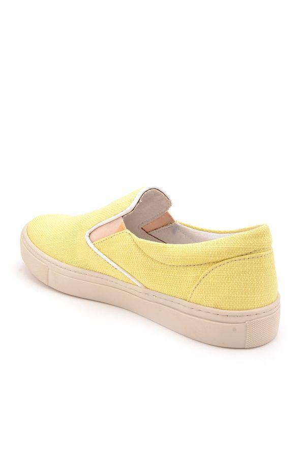 Art Goya Keten Kadın Sneaker  Sarı