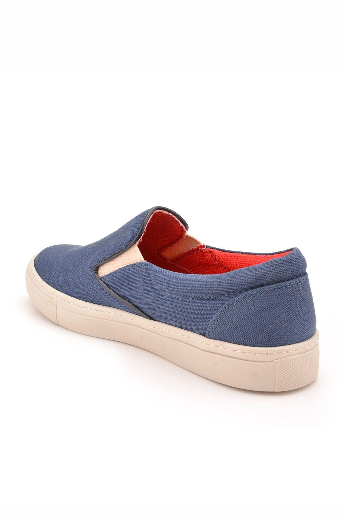 Art Goya Linen Women Sneakers Navy blue