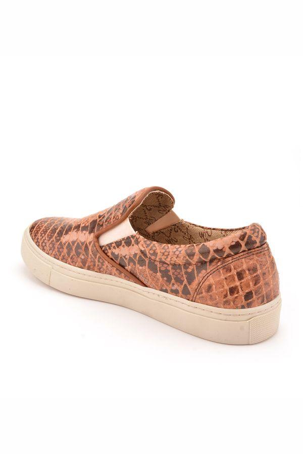 Art Goya Women Sneakers With Snake Pattern Brown