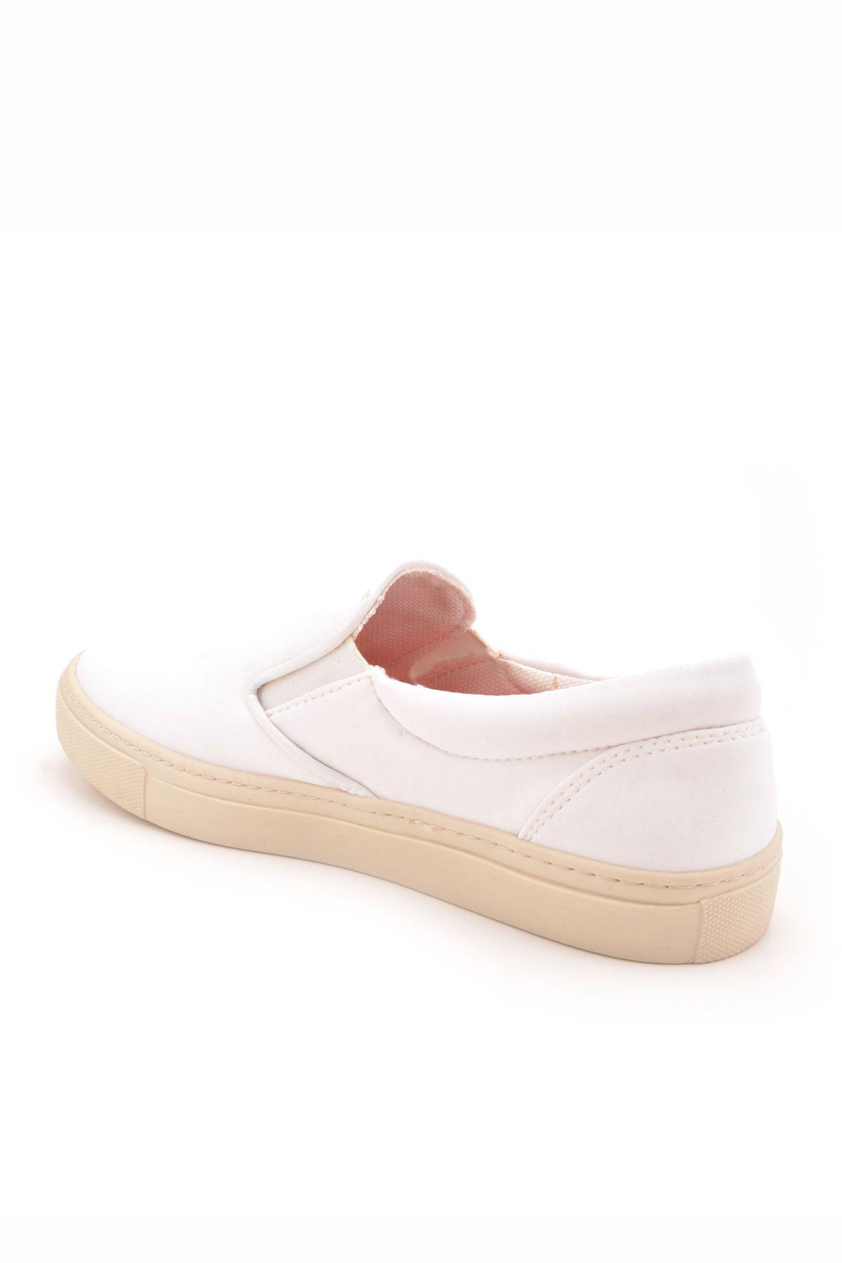 Art Goya Scuba Kumaş Bayan Sneaker  Beyaz