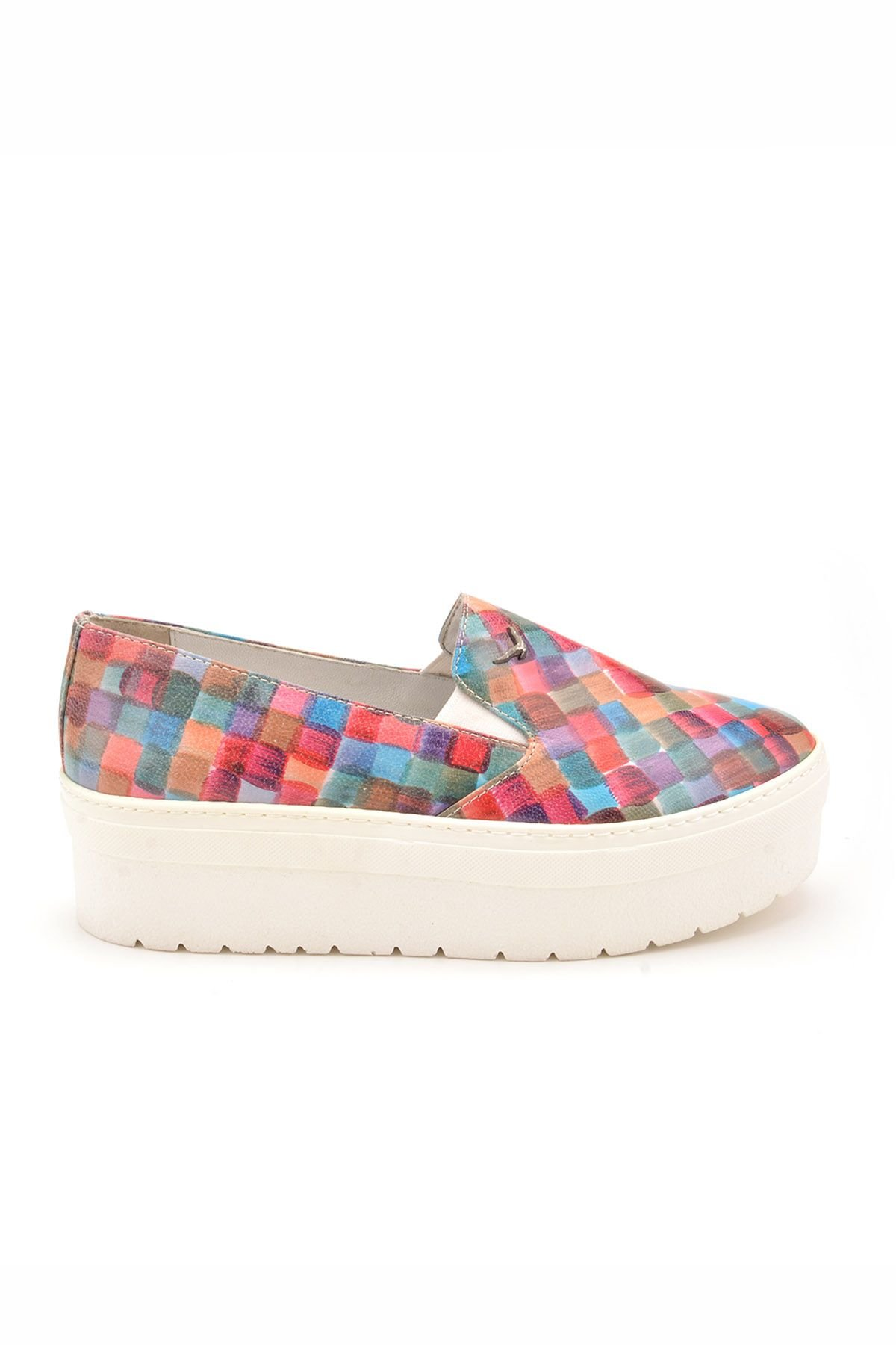 Art Goya High-Soled Women Sneakers Rainbow-hued