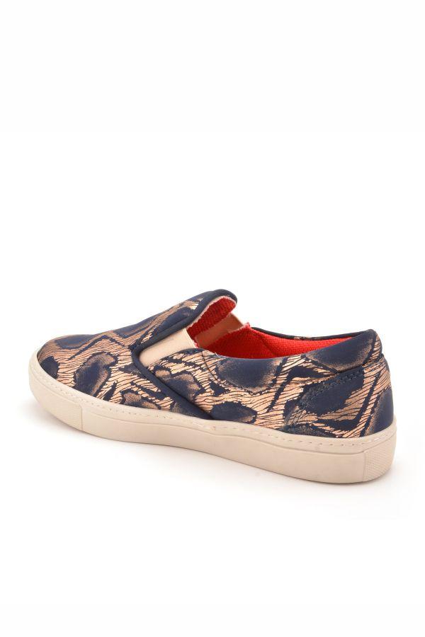 Art Goya Patterned Women Sneakers Navy blue