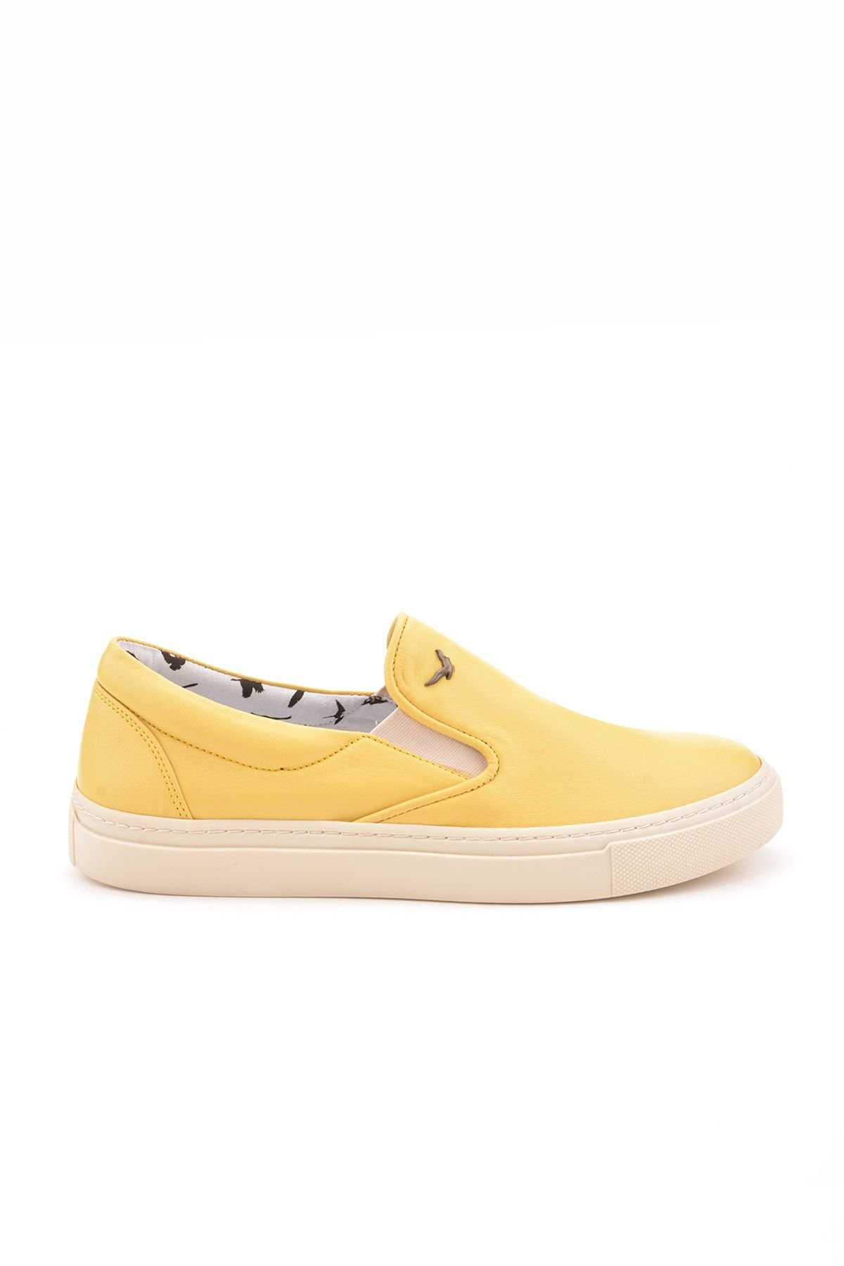 Art Goya Women Sneakers From Genuine Leather Yellow