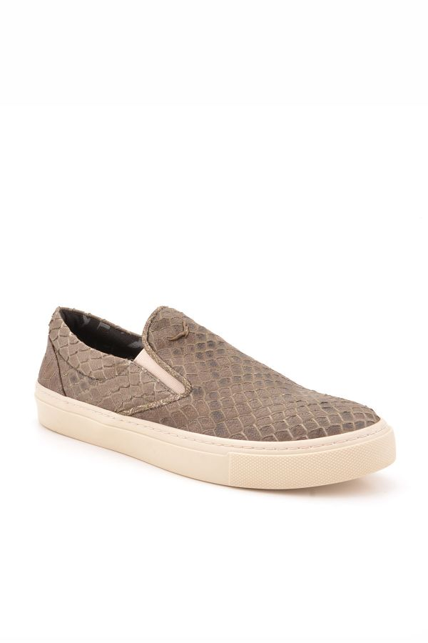 Art Goya Women Sneakers From Genuine Leather With Snake Pattern Brown