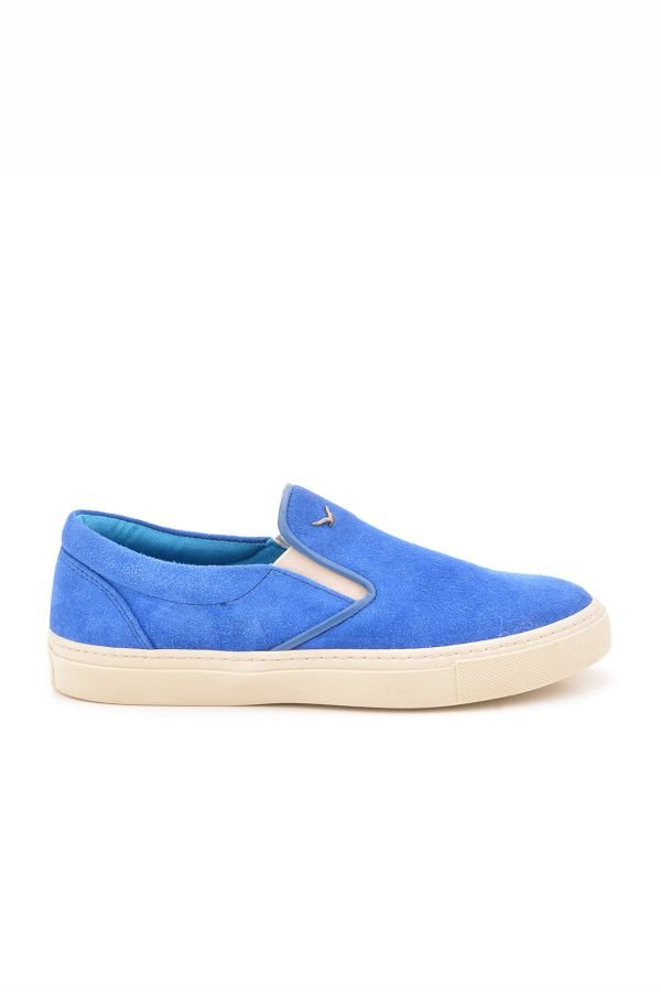 Art Goya Women Sneakers From Genuine Suede Blue