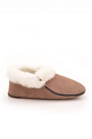 Pegia Kids Booties From Genuine Suede And Fur Visone