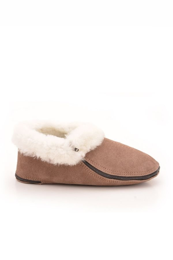 Pegia Kids Booties From Genuine Suede And Fur Mink
