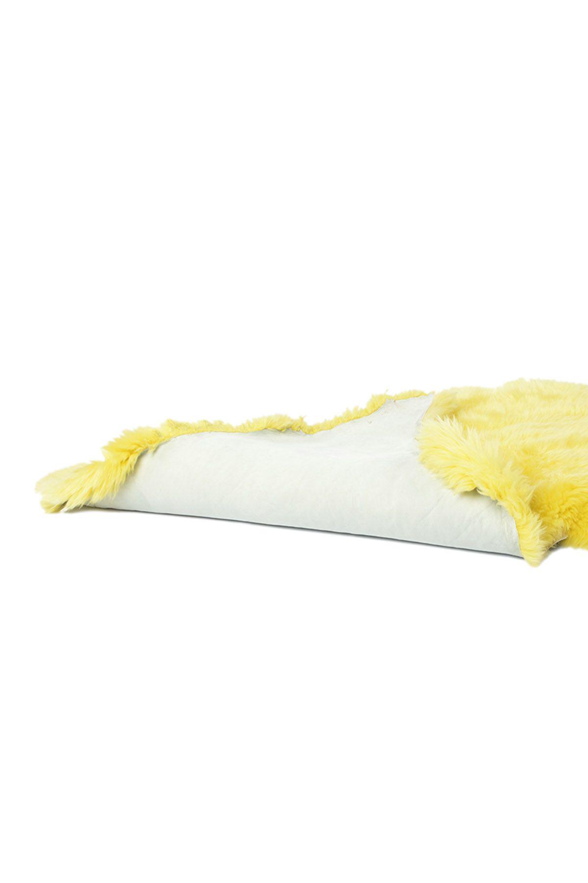 Erdogan Deri Декоративный Коврик Из Натуральной Овчины Желтый