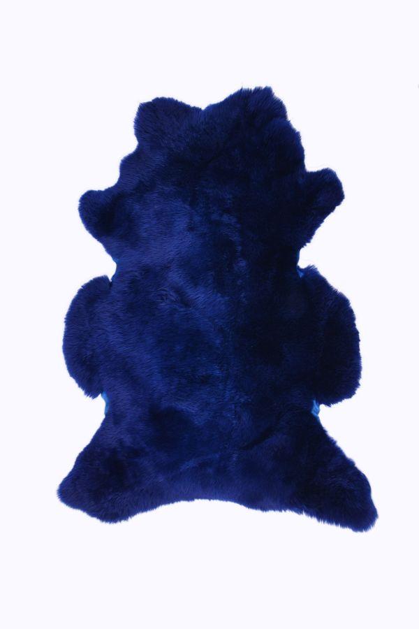 Erdogan Deri Декоративный Коврик Из Натуральной Овчины Темно-синий