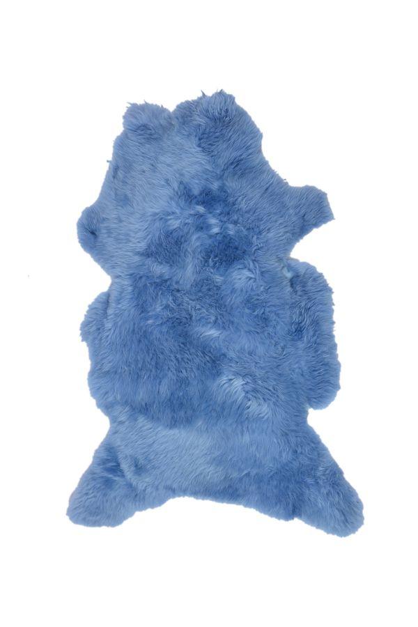 Erdogan Deri Декоративный Коврик Из Натуральной Овчины Голубой