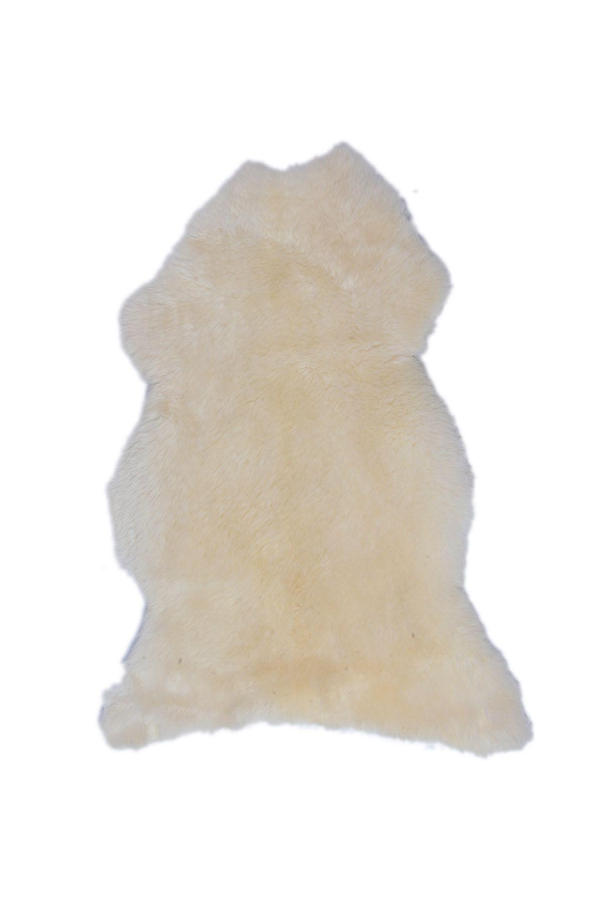 Erdogan Deri Decorative Sheepskin Rug White