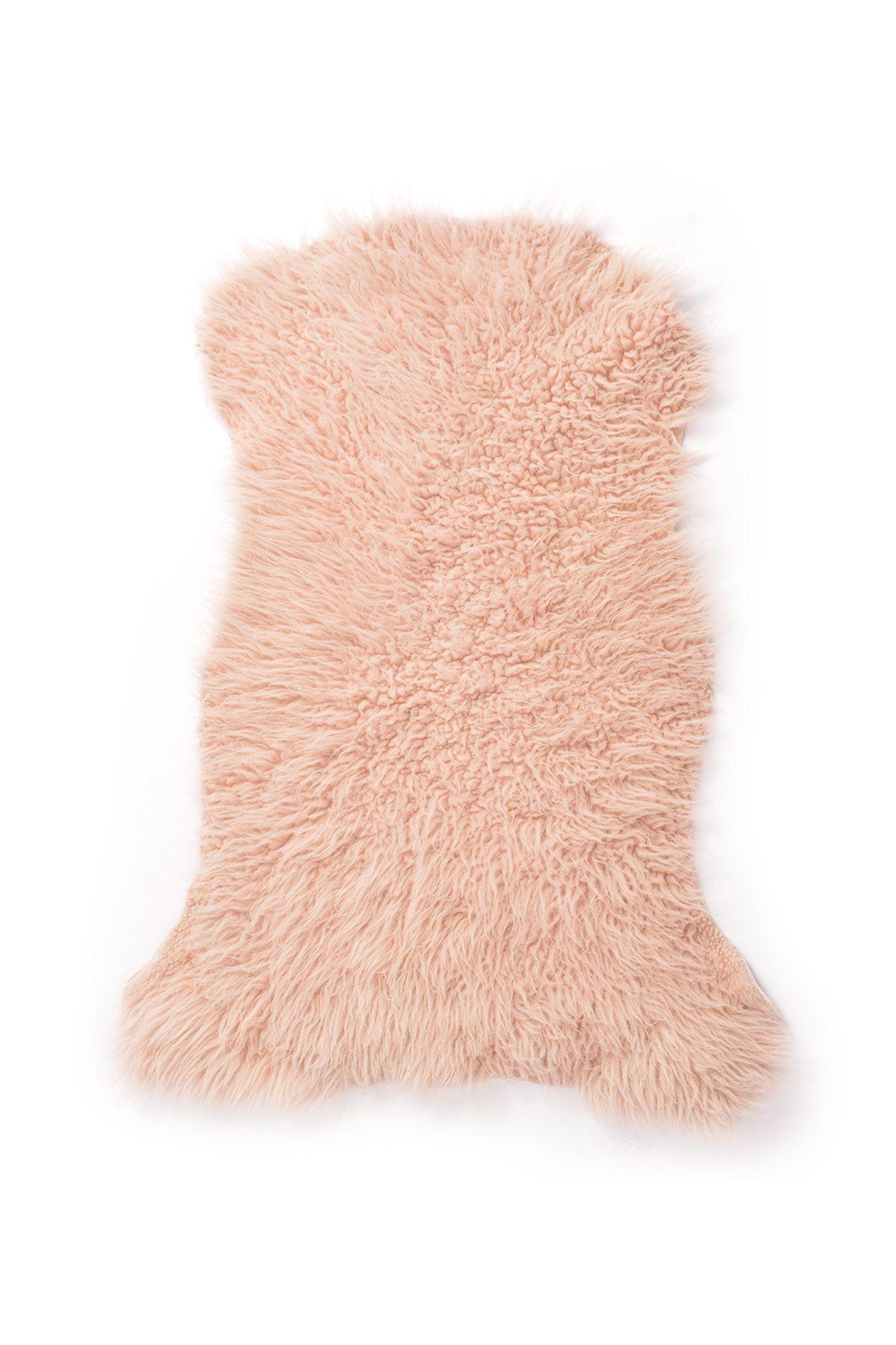Erdogan Deri Decorative Sheepskin Rug Pink