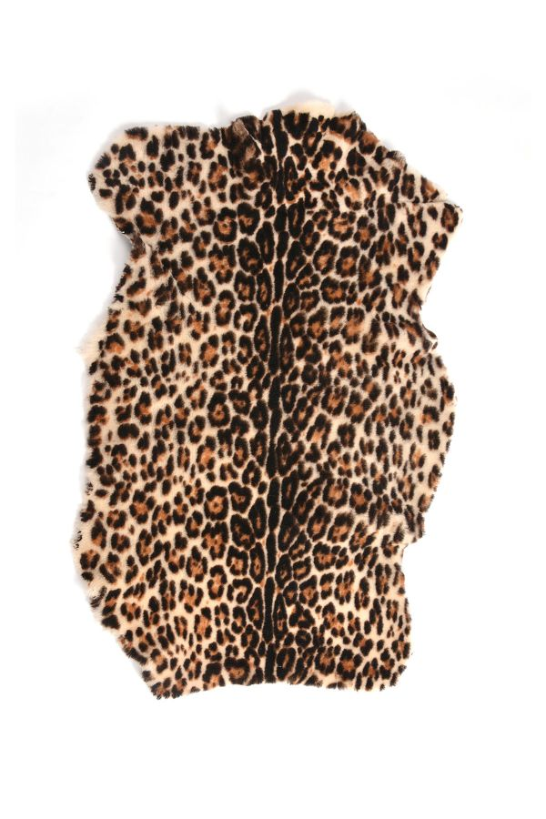 Erdogan Deri Decorative Sheepskin Rug With Tiger Pattern Natural