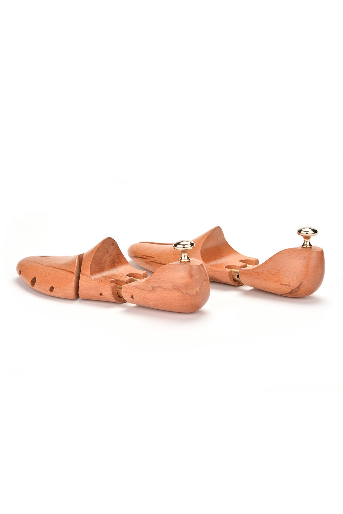 Pegia Polished Wooden Form For Shoes Natural
