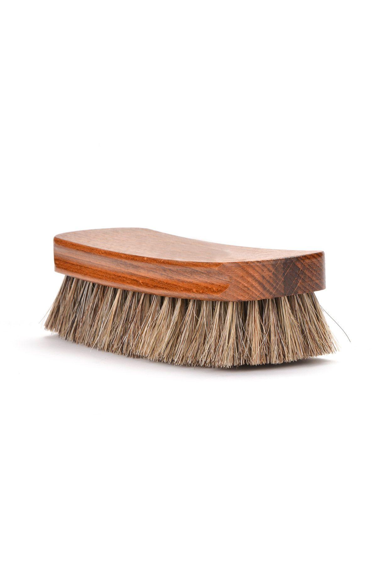Erdogan Deri Blink Horse Hair Brush For Shoe Cleaning Beige