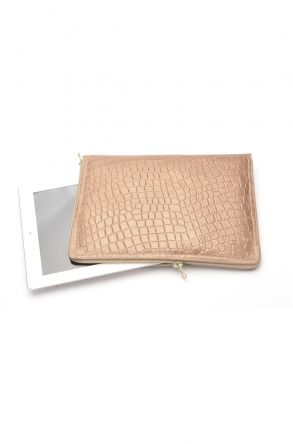 Pegia Shell Case For Tablet From Genuine Leather And Fur Mink