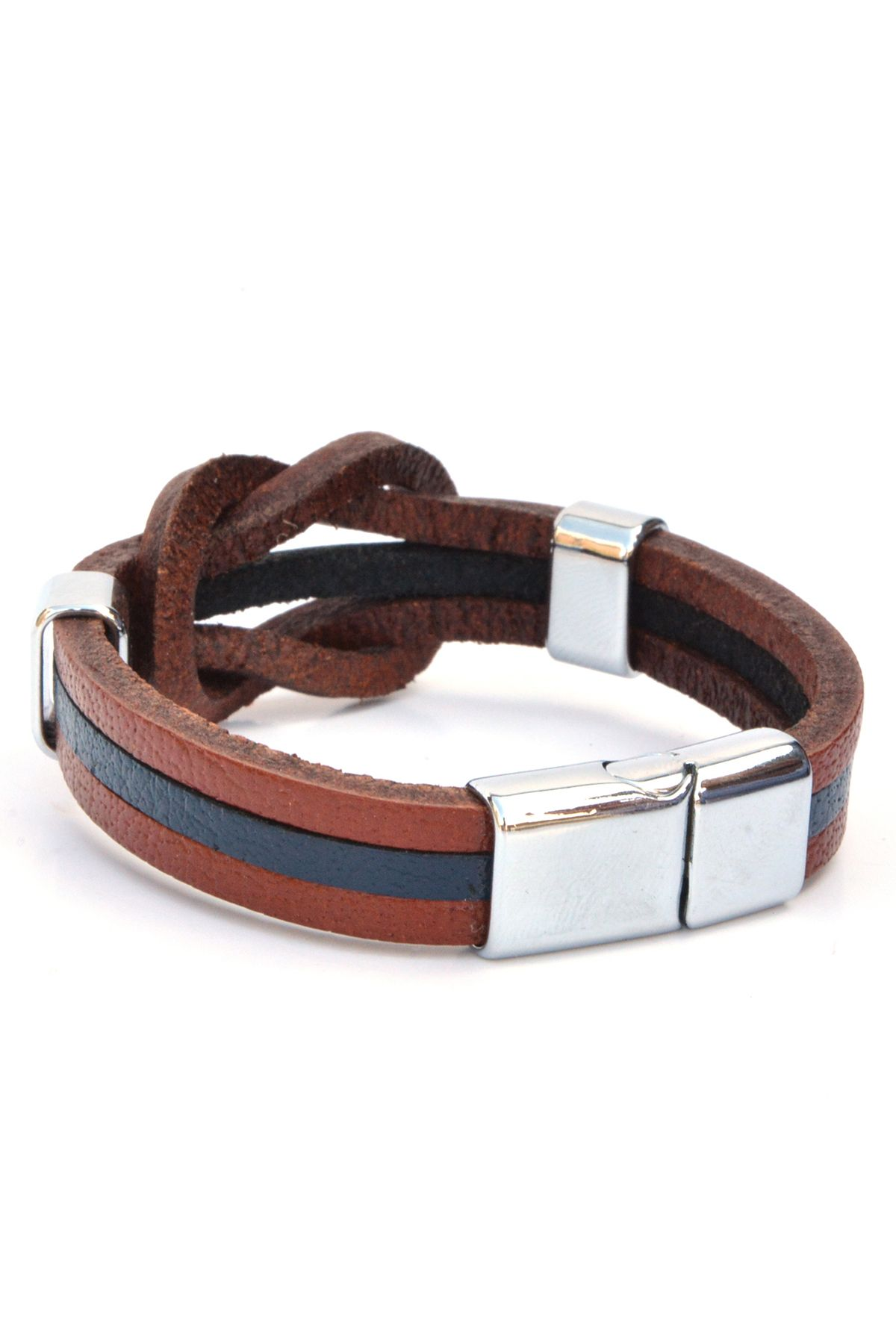 Erdogan Deri Unisex Leather Bangle Ginger