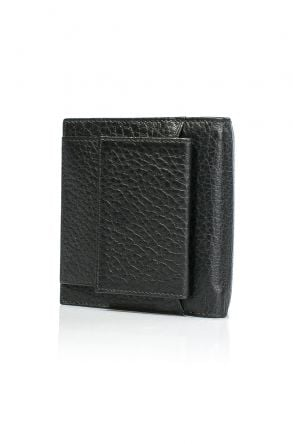 White Rabbit Pocket Leather Wallet Black