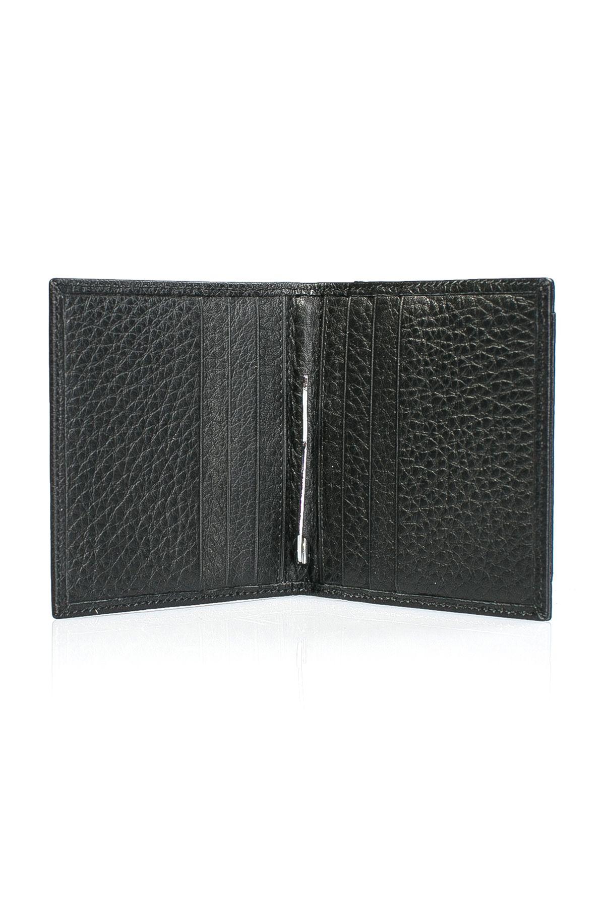 White Rabbit Pocket Leather Wallet Black