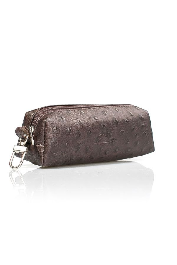 White Rabbit Ziped Leather Wallet Brown