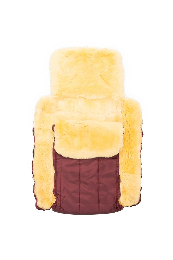 Sheepy Care Double Zippered Baby Sleeping Bag Claret red