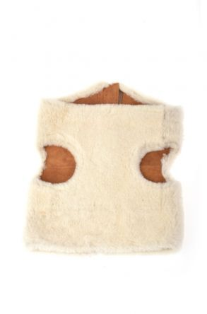 Pegia Dog Vest From Genuine Fur White