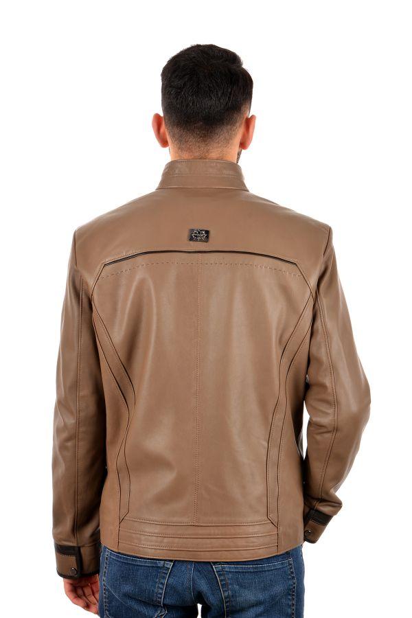 Pegia Мужская Куртка Из Натуральной Кожи Светло-коричневый
