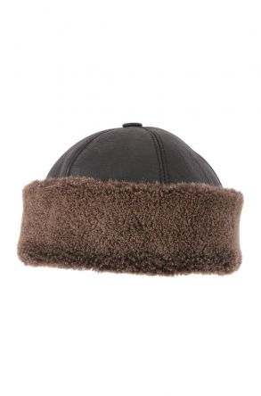 Pegia Ottoman Hat From Genuine Leather Brown