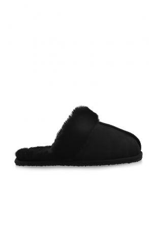 Pegia Unisex House-shoes From Genuine Fur Black