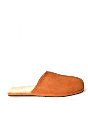 Pegia Men House Slippers From Genuine Fur Ginger
