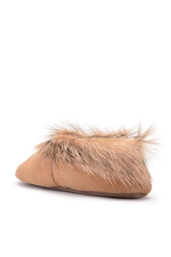 Pegia Women House-shoes From Genuine Fur With Fur Top Sand-colored