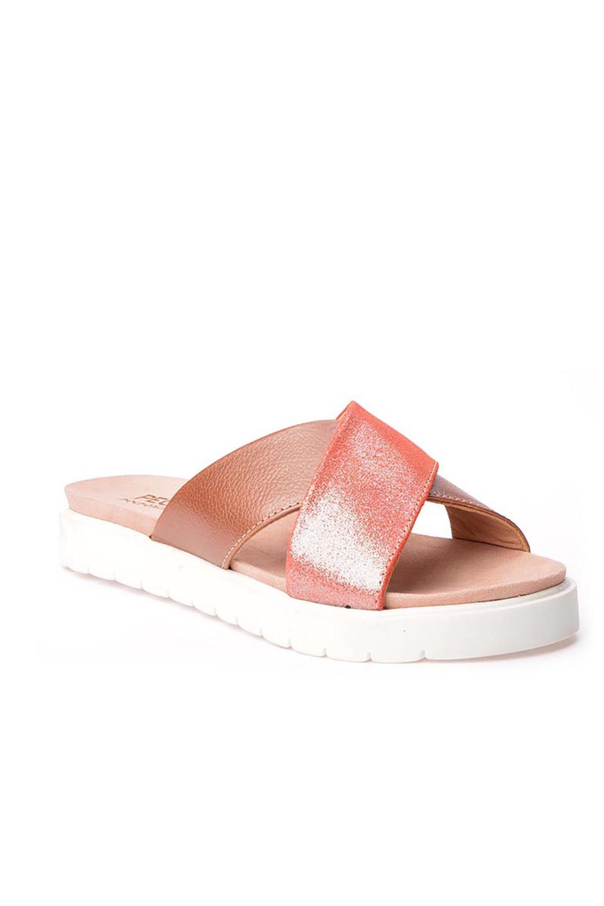Pegia La Ferme Женские Тапочки Из Натуральной Кожи Розовый