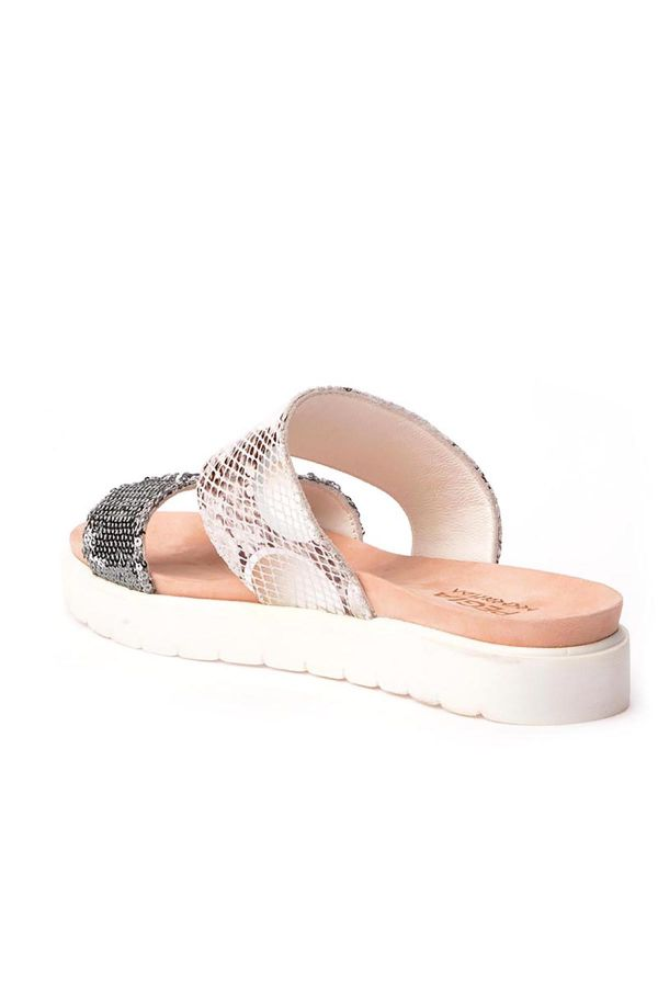 Pegia La Fource Women Slippers From Genuine Leather White